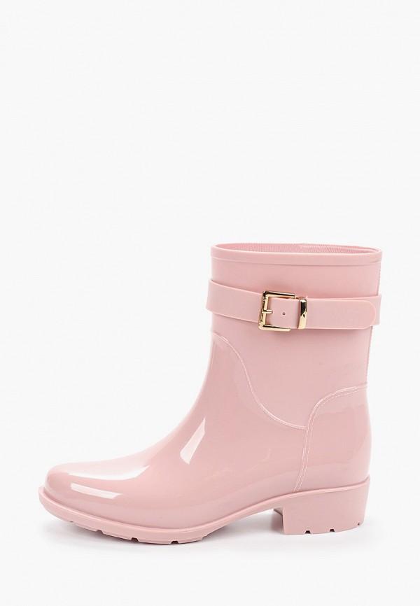 женские резиновые сапоги mon ami, розовые