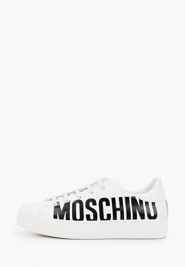 кеды moschino малыши, белые