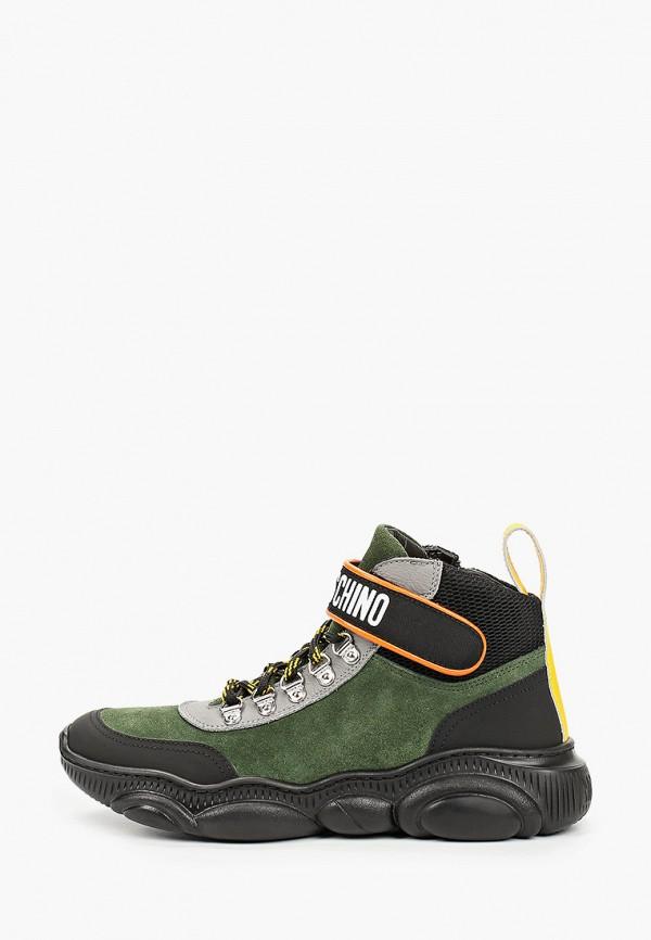 ботинки moschino малыши, зеленые