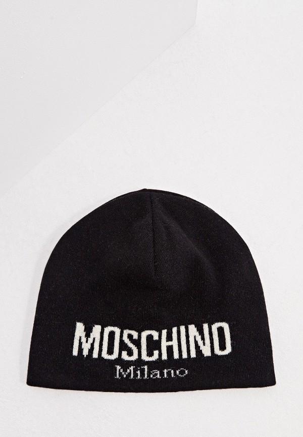 мужская шапка moschino, черная
