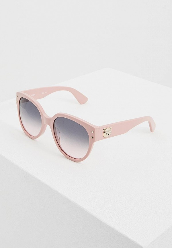 женские солнцезащитные очки moschino, розовые