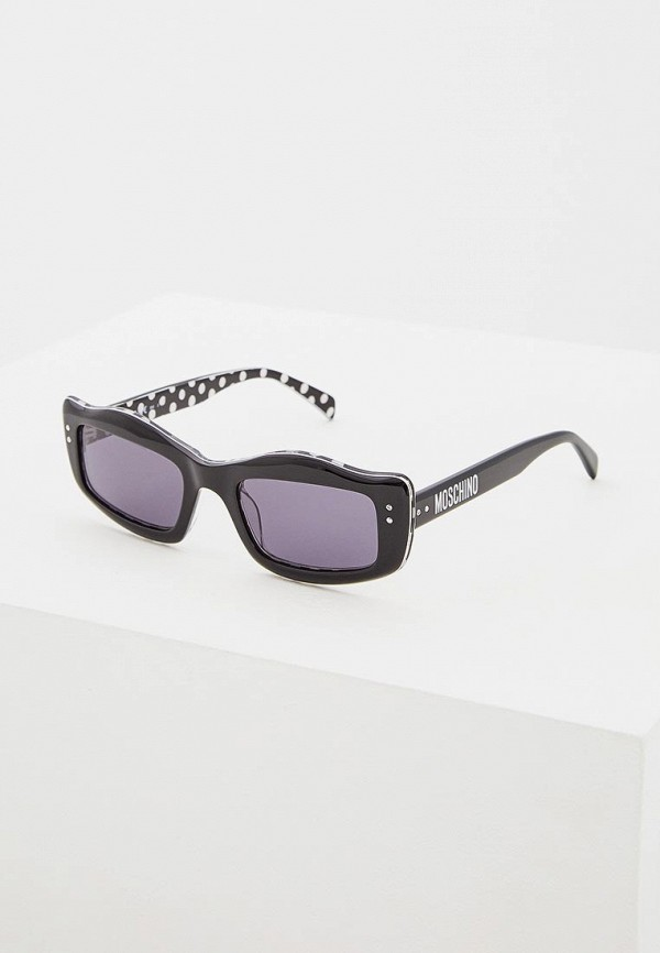 женские солнцезащитные очки moschino, черные