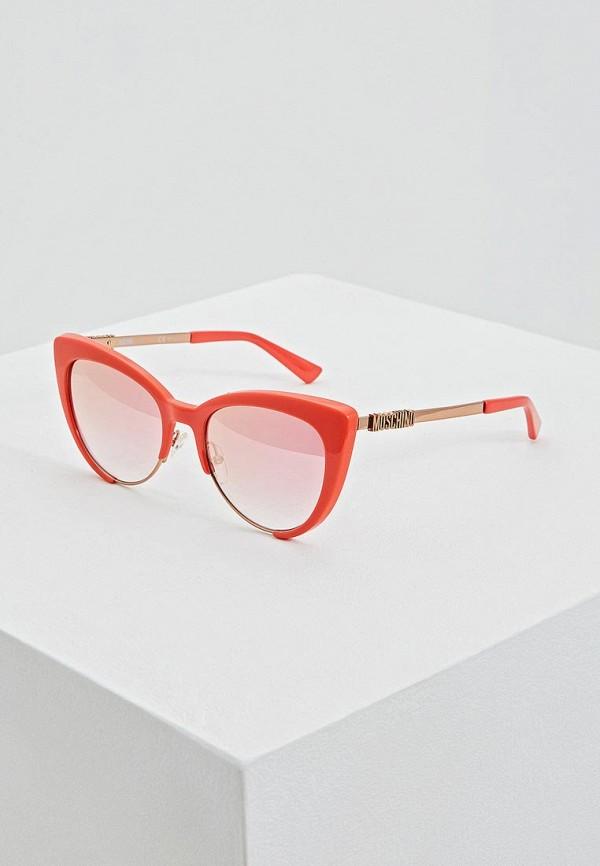 женские солнцезащитные очки moschino, оранжевые