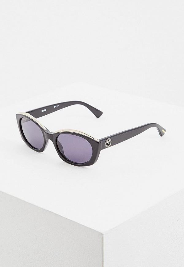 женские солнцезащитные очки кошачьи глаза moschino, серые