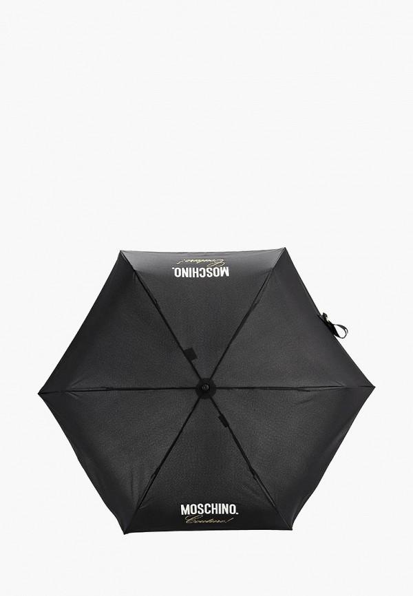 женский зонт moschino, черный