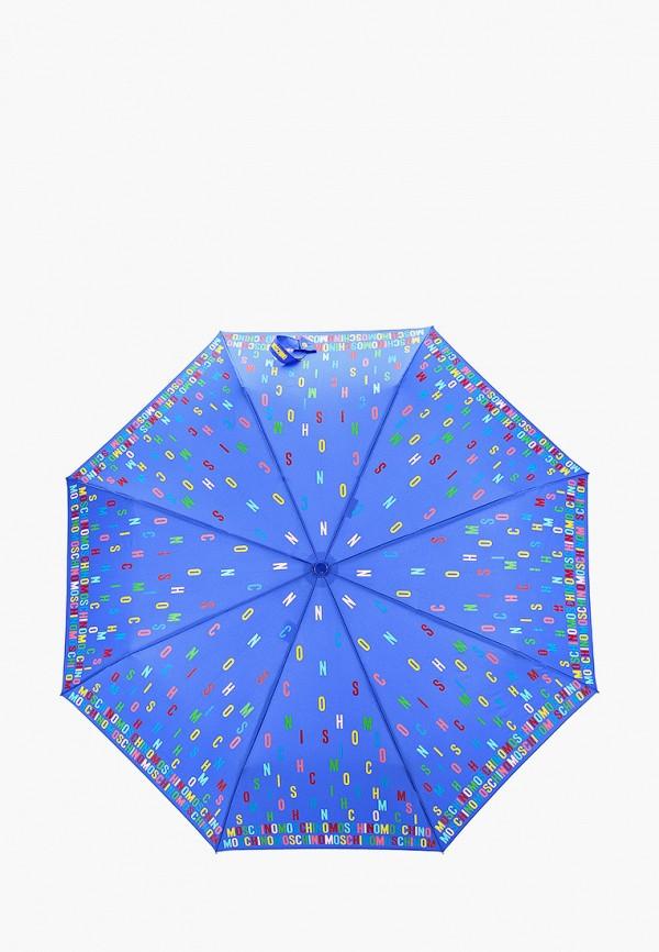 женский зонт moschino, синий
