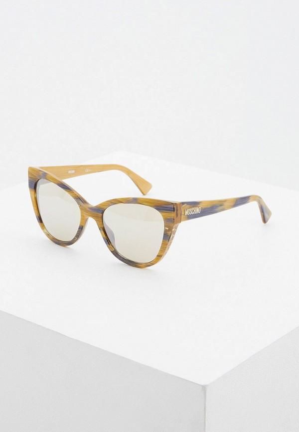 женские солнцезащитные очки moschino, бежевые