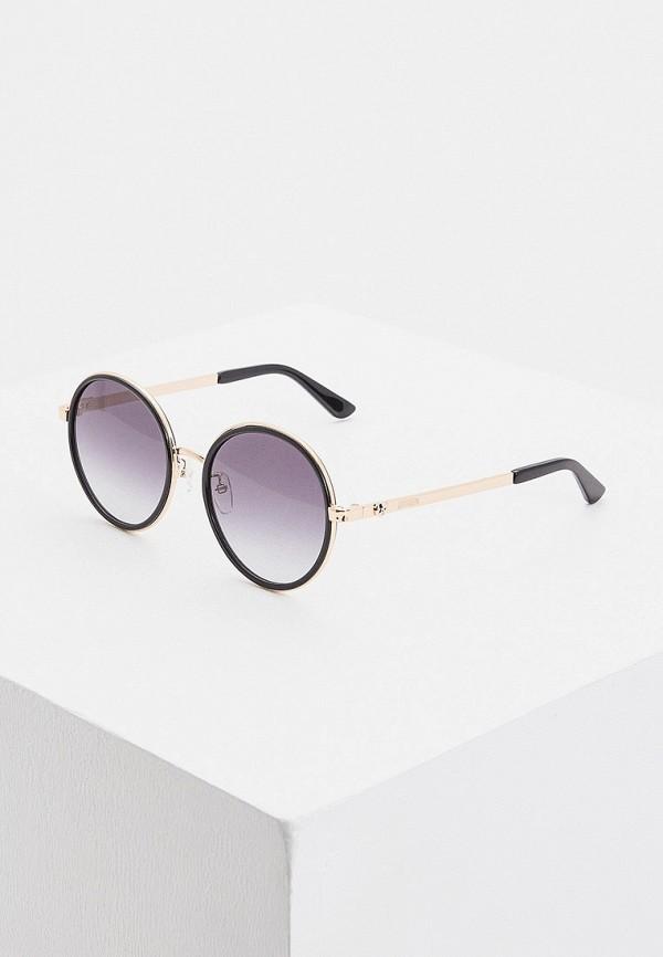 женские круглые солнцезащитные очки moschino, золотые