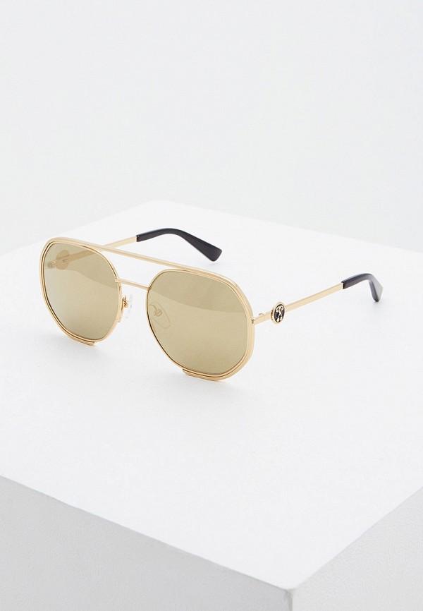 женские авиаторы солнцезащитные очки moschino, золотые