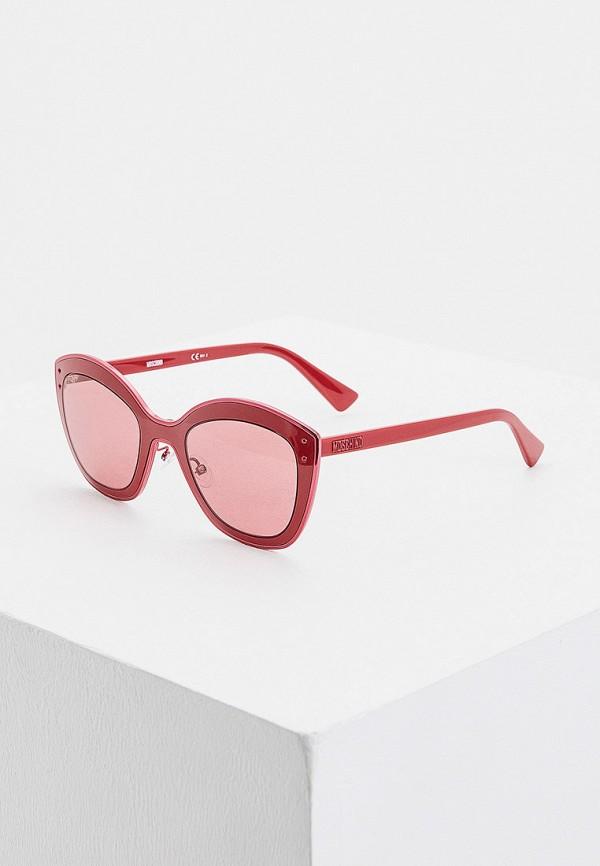 женские солнцезащитные очки moschino, бордовые