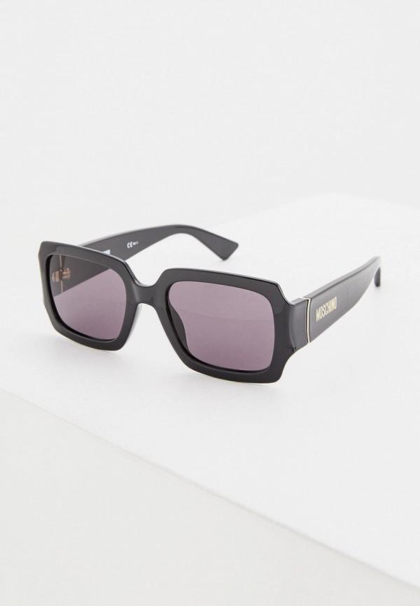 женские квадратные солнцезащитные очки moschino, черные