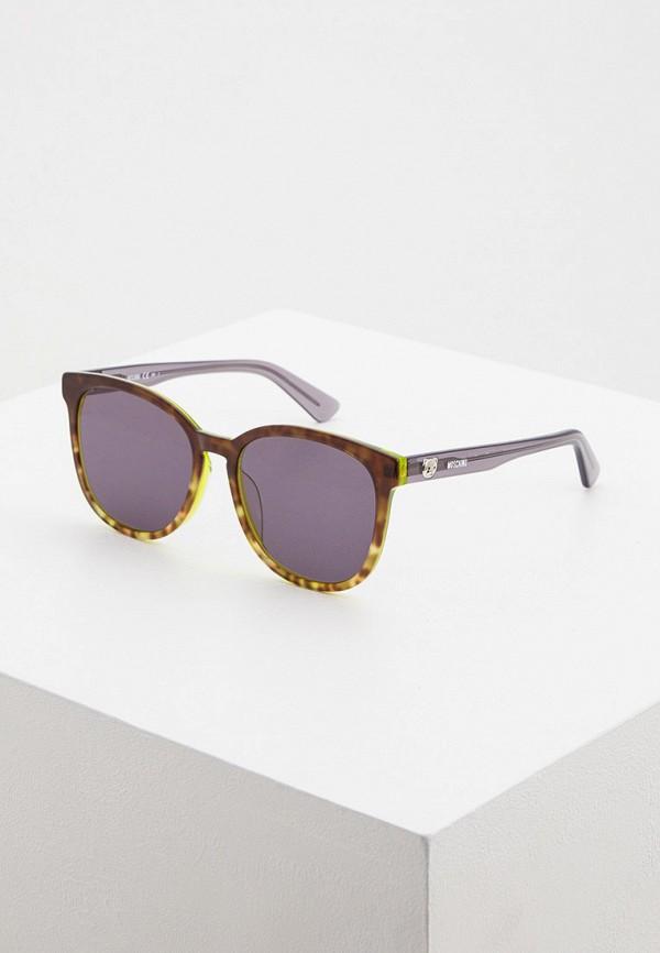 женские солнцезащитные очки moschino, серые