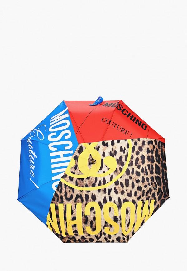 женский зонт moschino, разноцветный