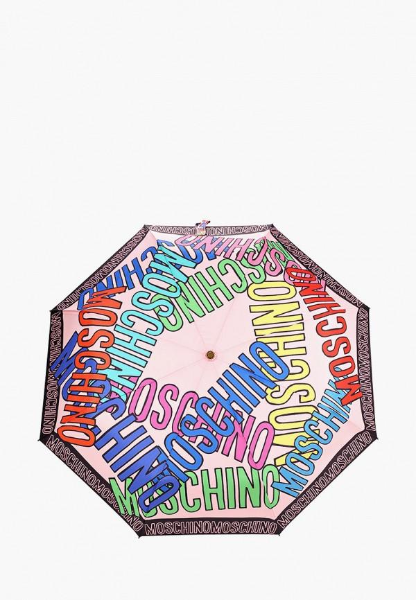 женский зонт moschino, розовый
