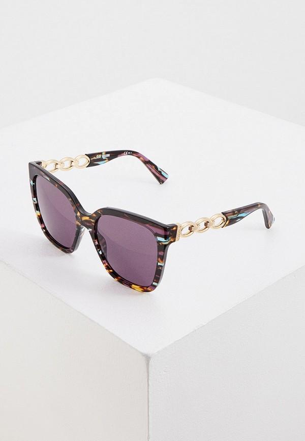женские солнцезащитные очки moschino, разноцветные