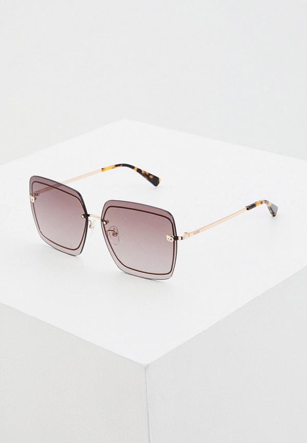 женские квадратные солнцезащитные очки moschino, золотые