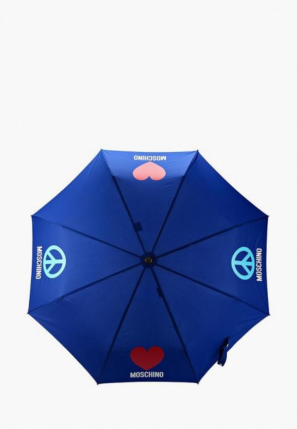 Фото - Зонт складной Moschino синего цвета