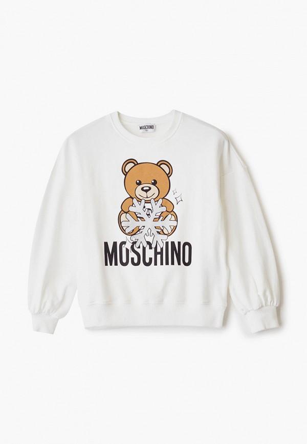 свитшот moschino kids для девочки, белый