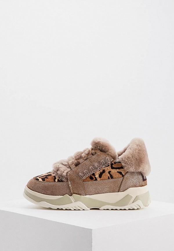 женские ботинки mou, коричневые