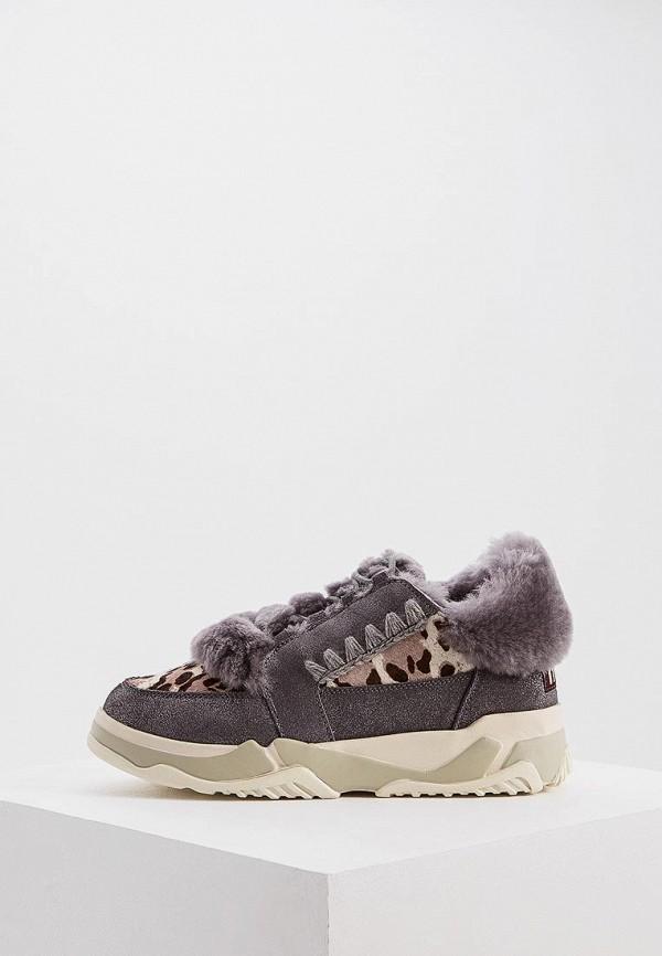 женские ботинки mou, серые