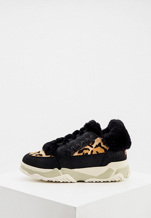 женские кроссовки mou, черные