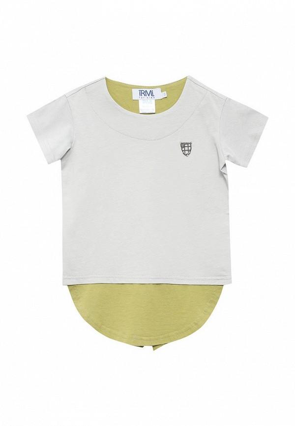 футболка с коротким рукавом irmi для мальчика, серая