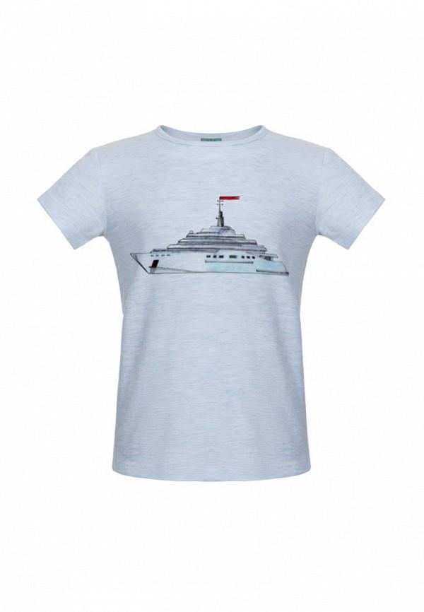футболка с коротким рукавом lisa&leo для мальчика, голубая