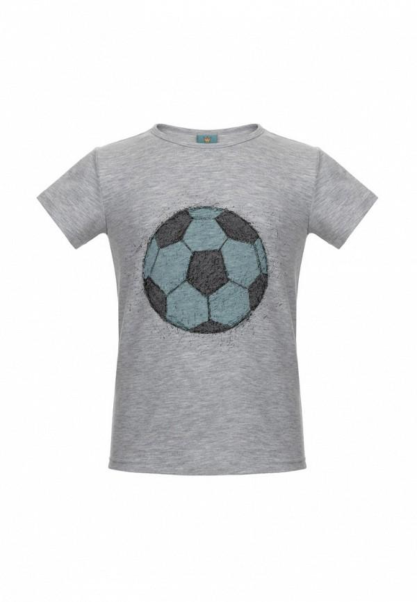 футболка с коротким рукавом lisa&leo для мальчика, серая