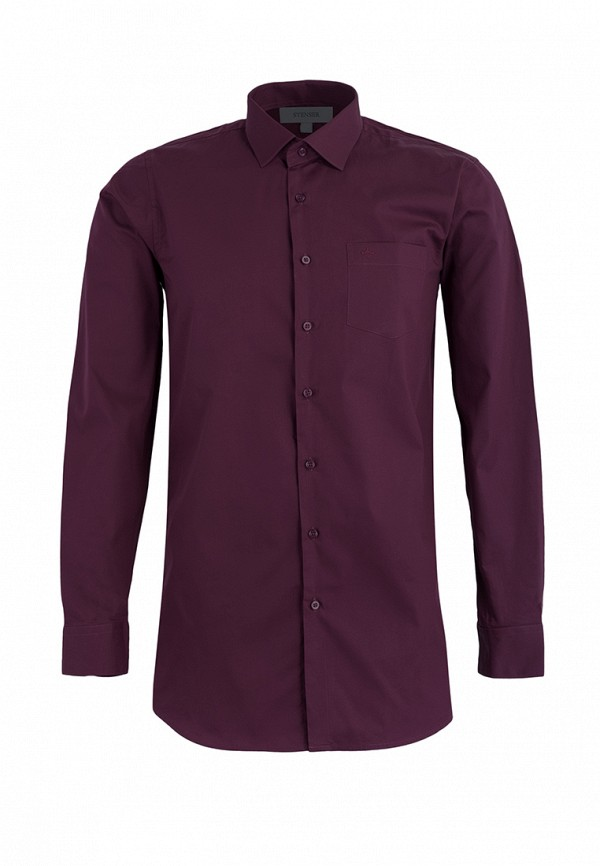 рубашка stenser для мальчика, бордовая