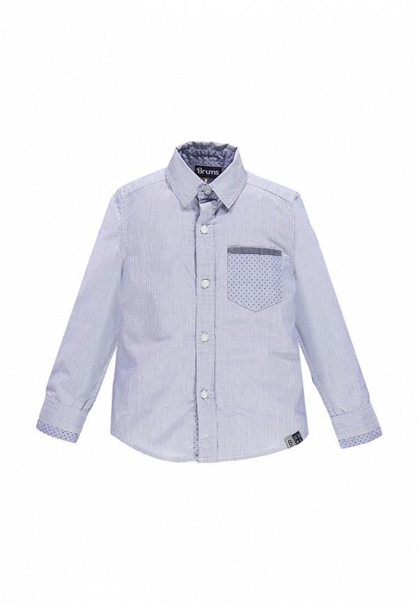 рубашка brums для мальчика, синяя