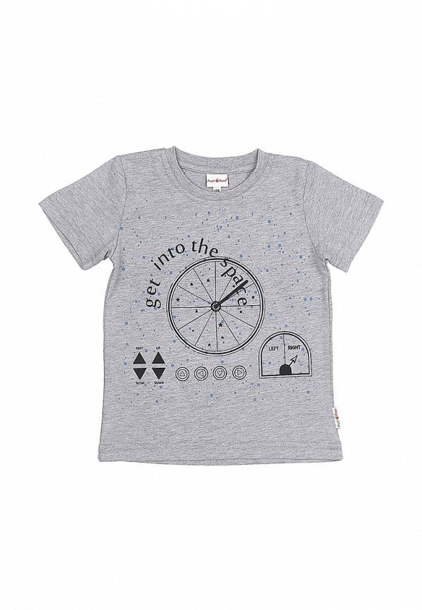 футболка с коротким рукавом frutto rosso для мальчика, серая