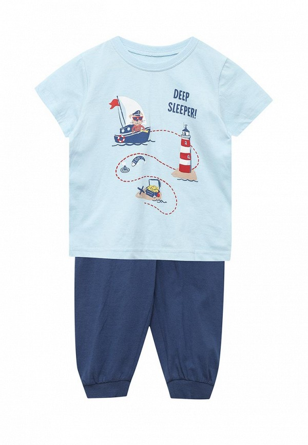 пижама pelican для мальчика, голубая