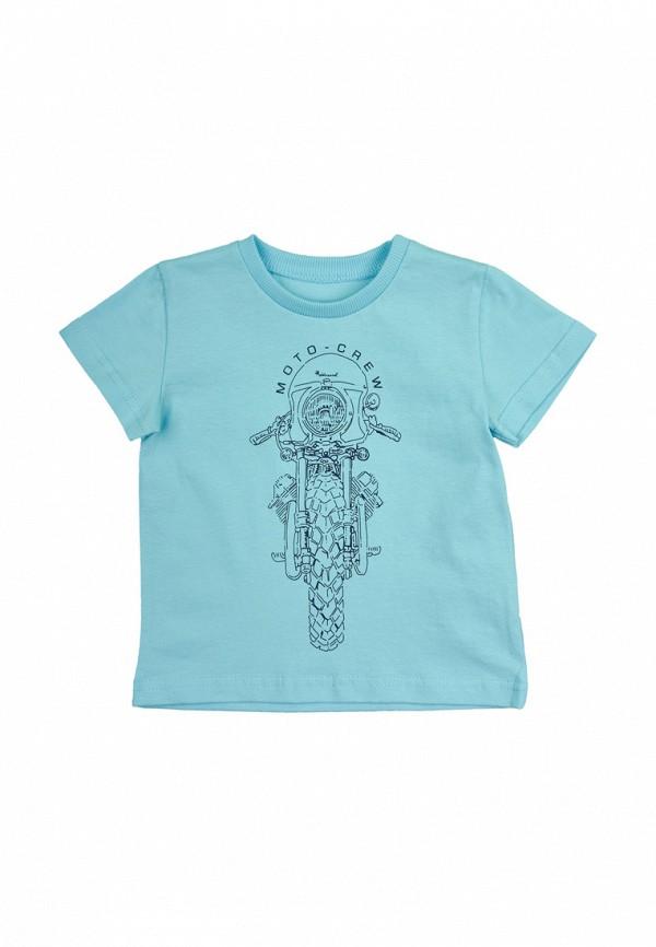 футболка с коротким рукавом robinzon для мальчика, голубая