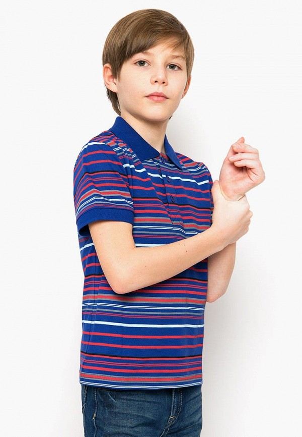 Поло для мальчика Finn Flare цвет синий  Фото 4