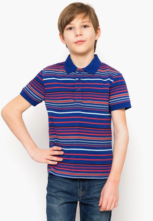 Поло для мальчика Finn Flare цвет синий  Фото 3