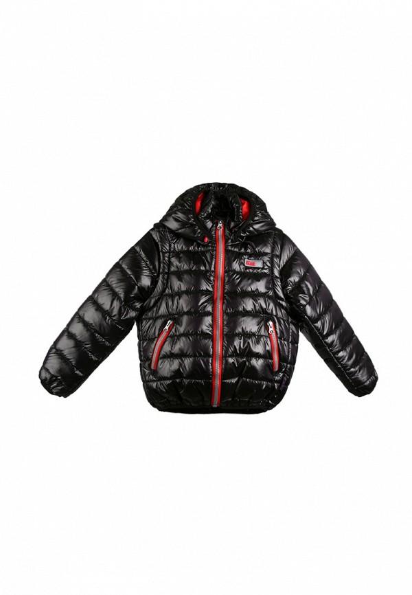 куртка kat для мальчика, черная