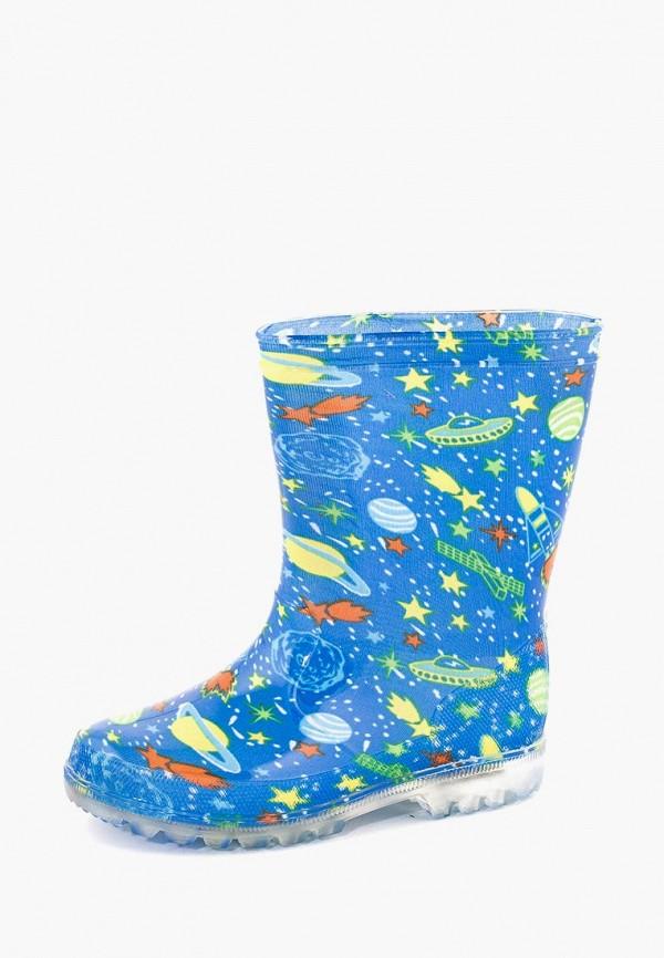 резиновые сапоги coccodrillo для мальчика, голубые