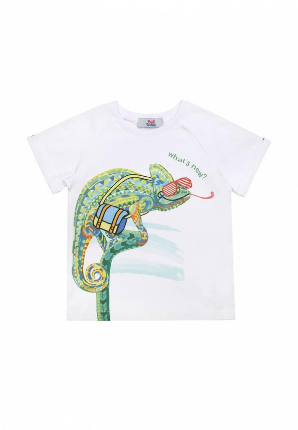 футболка с коротким рукавом bell bimbo для мальчика, белая