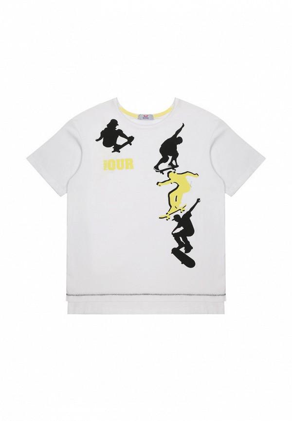 футболка bell bimbo для мальчика, белая