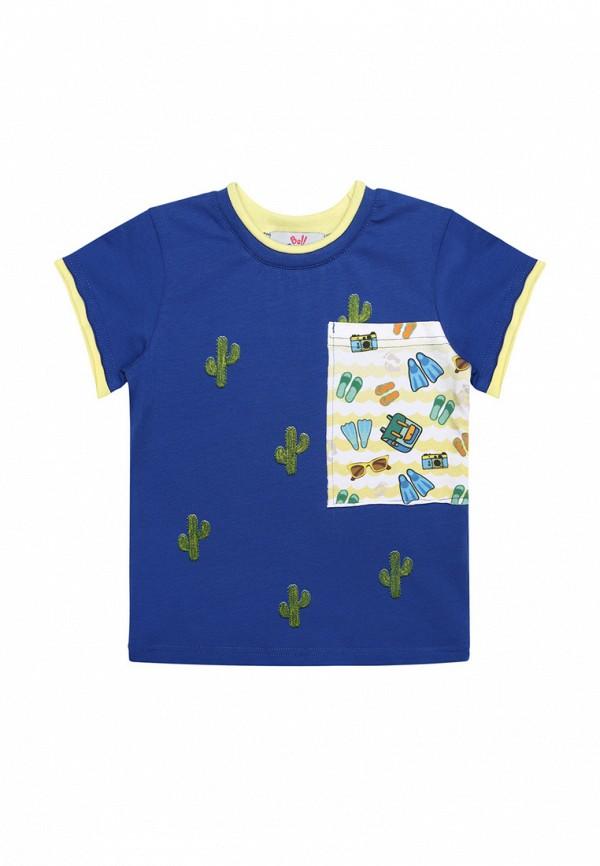 футболка с коротким рукавом bell bimbo для мальчика, синяя