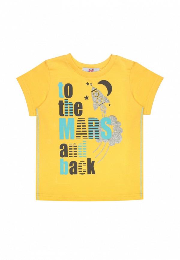 футболка с коротким рукавом bell bimbo для мальчика, желтая