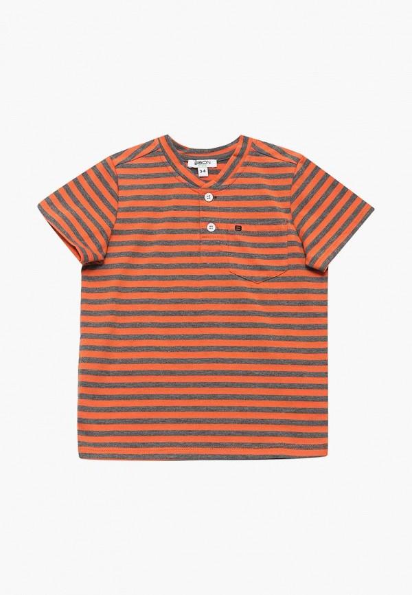 футболка с коротким рукавом baon для мальчика, оранжевая