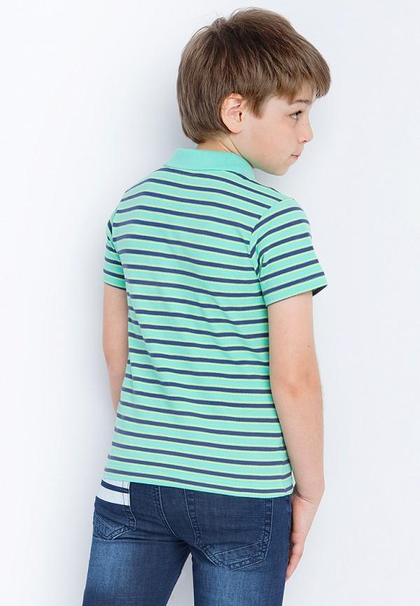 Поло для мальчика Finn Flare цвет бирюзовый  Фото 4