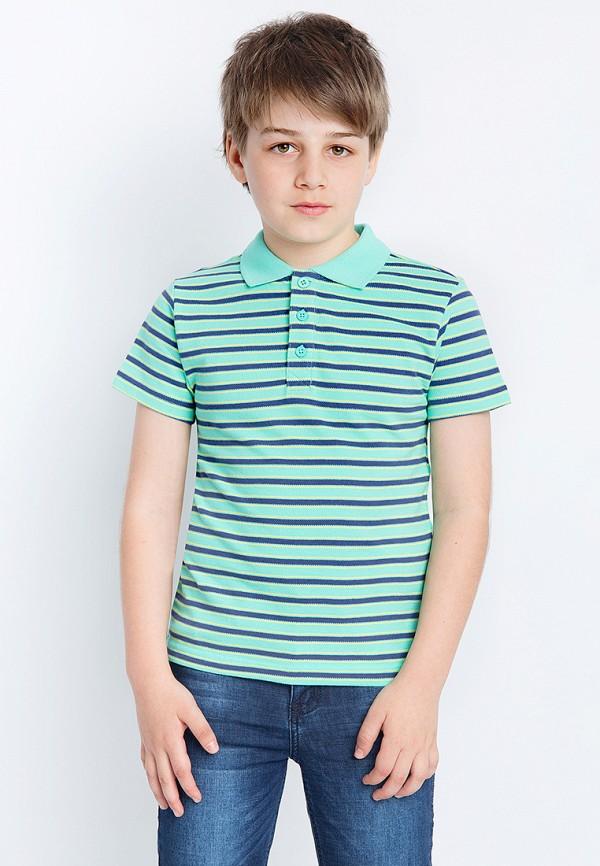 Поло для мальчика Finn Flare цвет бирюзовый  Фото 3
