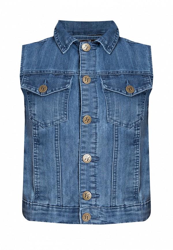 джинсовые жилет finn flare для мальчика, синий