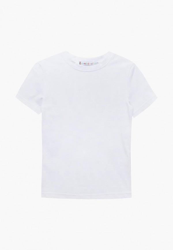 футболка с коротким рукавом chadolini для мальчика, белая