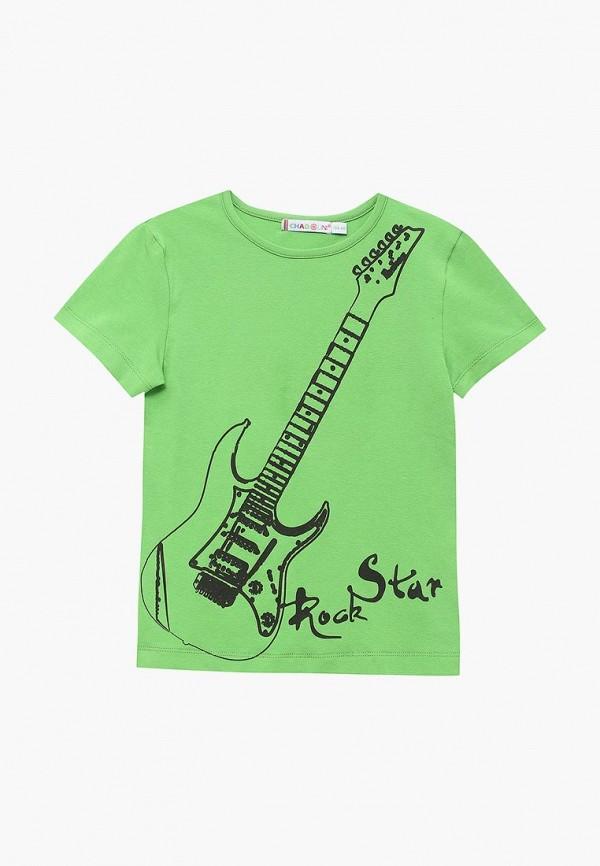 футболка с коротким рукавом chadolini для мальчика, зеленая