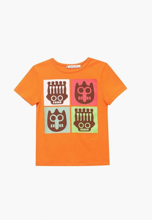 футболка с коротким рукавом chadolini для мальчика, оранжевая