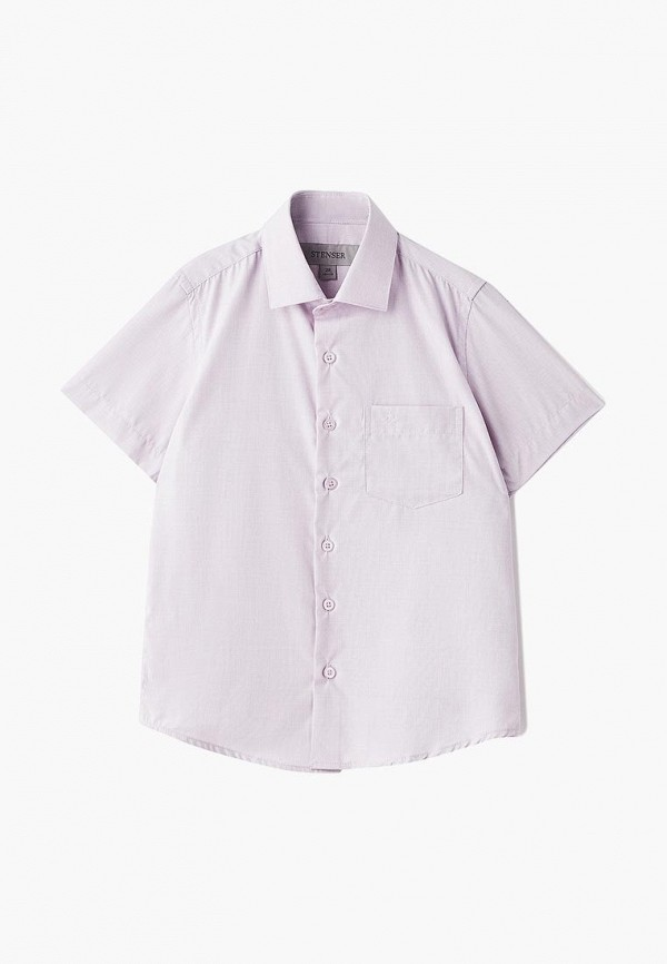 рубашка stenser для мальчика, розовая