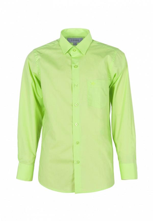 рубашка stenser для мальчика, зеленая
